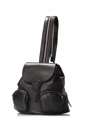 حقيبة ظهر بجيب - اسود