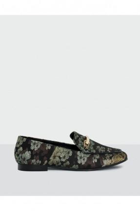 حذاء نسائي منقوش - اخضر