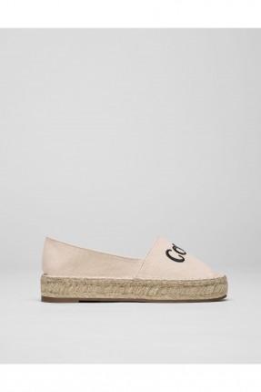 حذاء نسائي مع طبعة - وردي