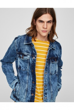 جاكيت جينز رجالي - ازرق نيلي