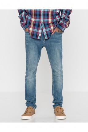 بنطال جينز رجالي - ازرق فاتح