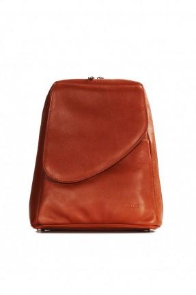 حقيبة ظهر نسائية جلد - برتقالي