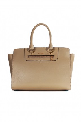حقيبة يد نسائية جلد  - بيج