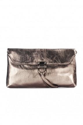 حقيبة نسائية جلد - برونز