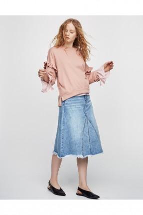 تنورة جينز سبور - ازرق