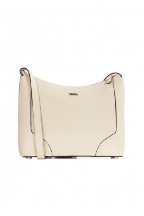 حقيبة نسائية جلد - ابيض