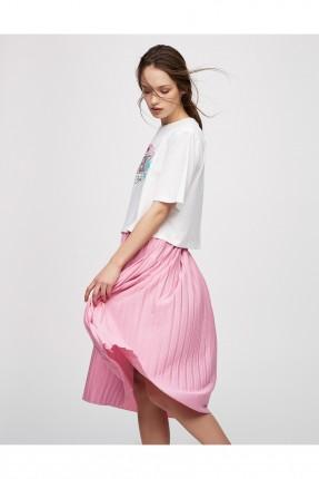 تنورة سبور - وردي