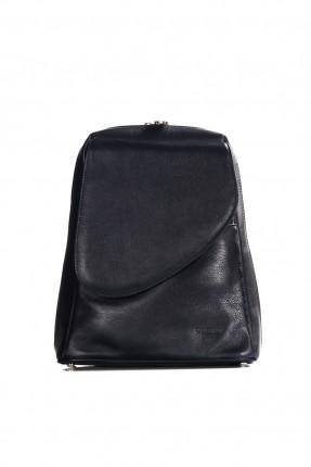 حقيبة ظهر نسائية جلد - كحلي