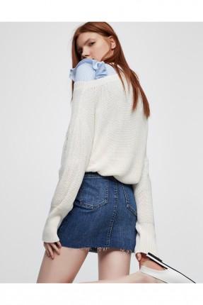 تنورة جينز قصير - ازرق