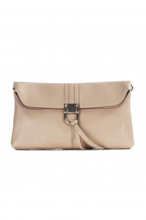 حقيبة نسائية جلد - بيج