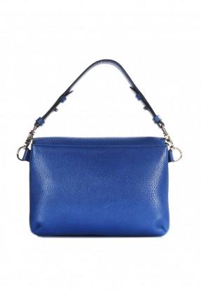حقيبة يد نسائية جلد - ازرق