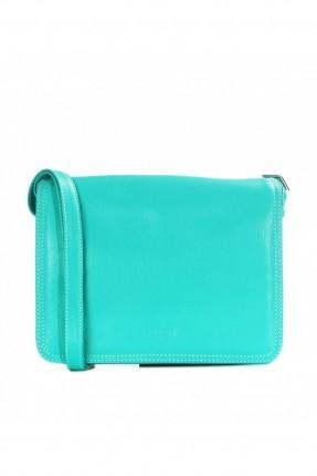 حقيبة نسائية جلد - تركواز