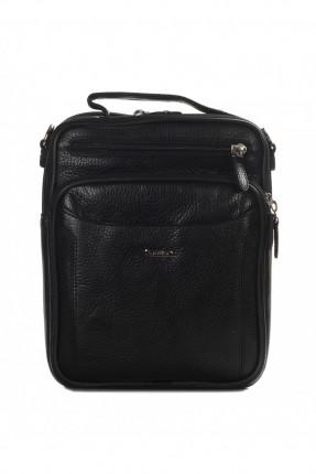 حقيبة يد رجالي جلد - اسود