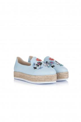 حذاء نسائي مجوهرات - تركواز
