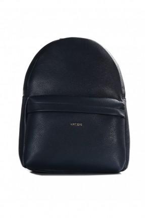 حقيبة ظهر نسائية بسحاب  - ازرق داكن