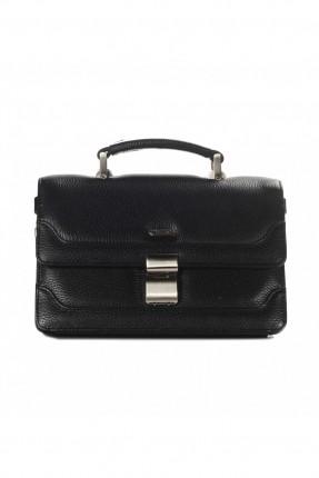 حقيبة يد رجالي جلد وثائق - اسود