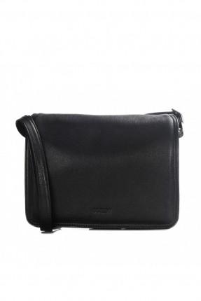 حقيبة نسائية جلد - اسود