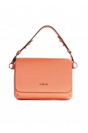 حقيبة يد نسائية جلد - زهري