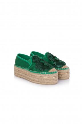 حذاء نسائي قماش - اخضر