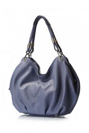 حقيبة نسائية جلد - ازرق