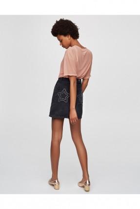 تنورة جينز قصير - اسود