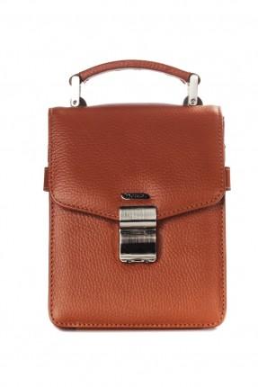 حقيبة يد رجالي جلد - عسلي