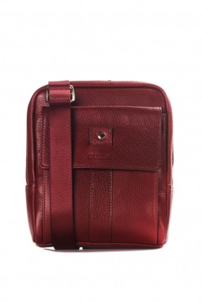 حقيبة يد جلد رجالي - خمري