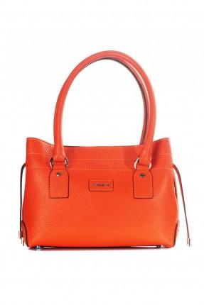 حقيبة نسائية جلد - برتقالي