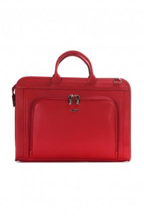 حقيبة يد رجالي جلد - احمر