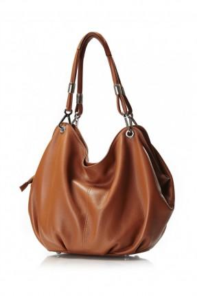 حقيبة نسائية جلد - عسلي