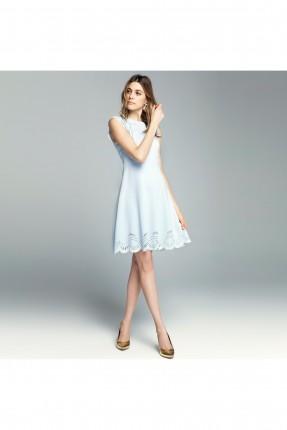 فستان رسمي مفرغ - ازرق