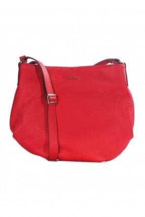 حقيبة نسائية جلد - احمر