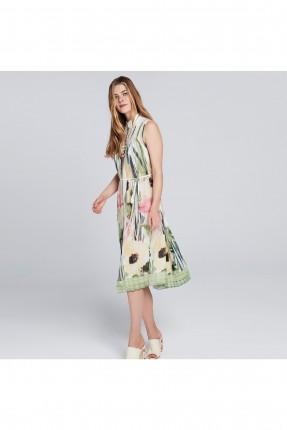 فستان سبور بطبعة ورد - اخضر
