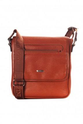 حقيبة يد جلد رجالي - عسلي