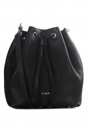 حقيبة يد نسائية جلد مزمومة - اسود