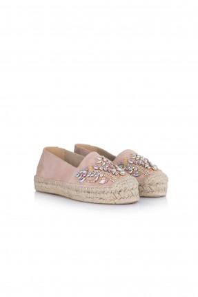 حذاء نسائي مجوهرات - وردي