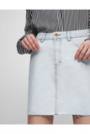 تنورة جينز قصير - ازرق فاتح