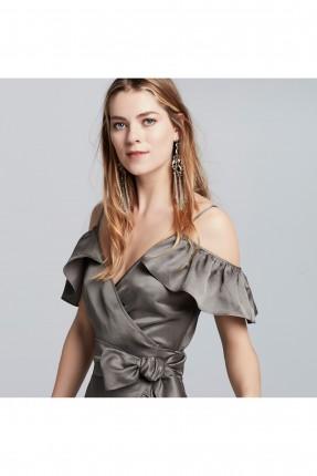 فستان رسمي مفتوح الاكتاف - زيتي