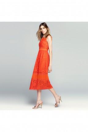 فستان مزخرف - برتقالي