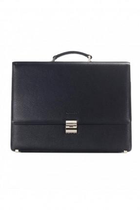 حقيبة يد رجالي جلد معلم - كحلي