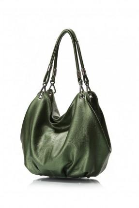 حقيبة نسائية جلد - اخضر