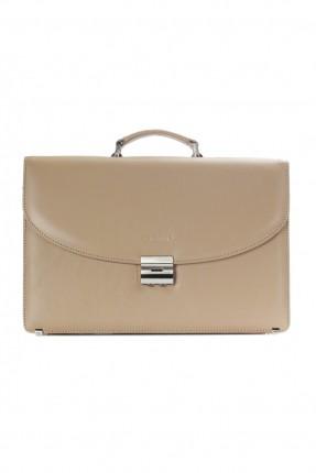 حقيبة يد رجالي جلد محامي - بيج