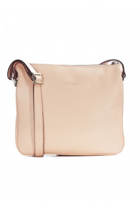 حقيبة نسائية جلد - كريمي