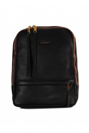 حقيبة ظهر  نسائية جلد - بني غامق