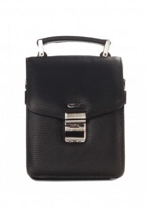 حقيبة يد رجالي جلد سحاب داخلي - بني