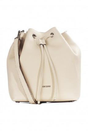 حقيبة يد نسائية جلد مزمومة - ابيض
