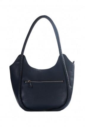 حقيبة نسائية جلد - ازرق غامق
