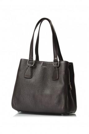حقيبة نسائية جلد - بني داكن