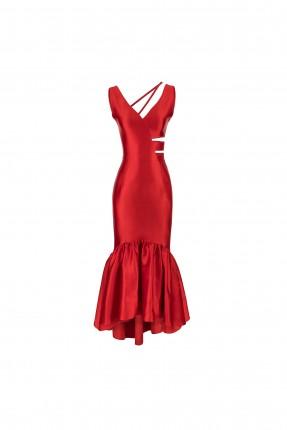 فستان رسمي بلا اكمام - احمر