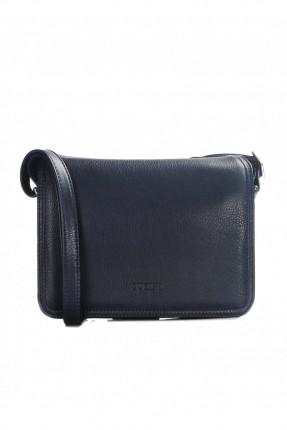 حقيبة  نسائية جلد - ازرق داكن